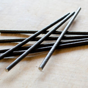 Black Paper Straws 6mm
